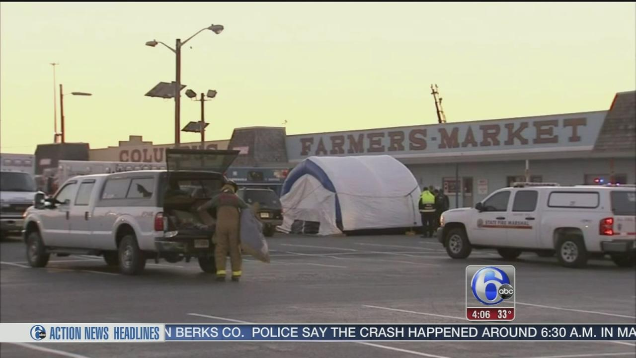 VIDEO: Reports claim workers inside when farmers market blaze ignited
