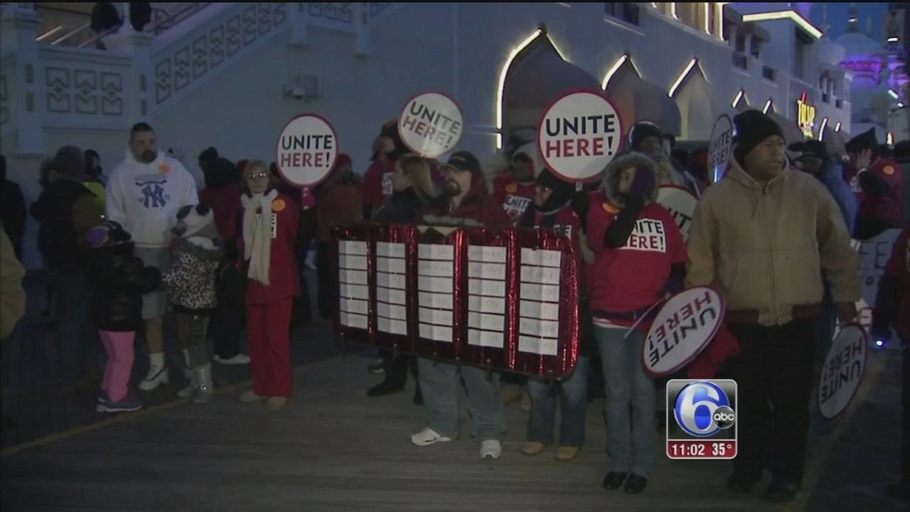 VIDEO: Casino workers protest again in Atlantic City
