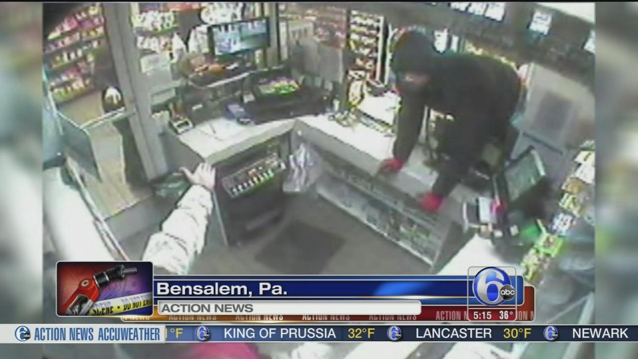 VIDEO: Bensalem gas station robbery caught on camera