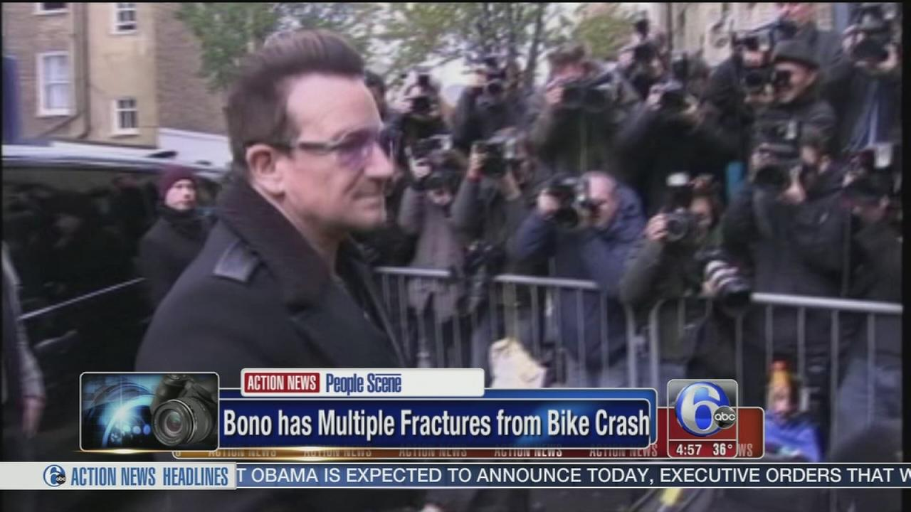 VIDEO: Multiple fractures for Bono in NY bicycle accident