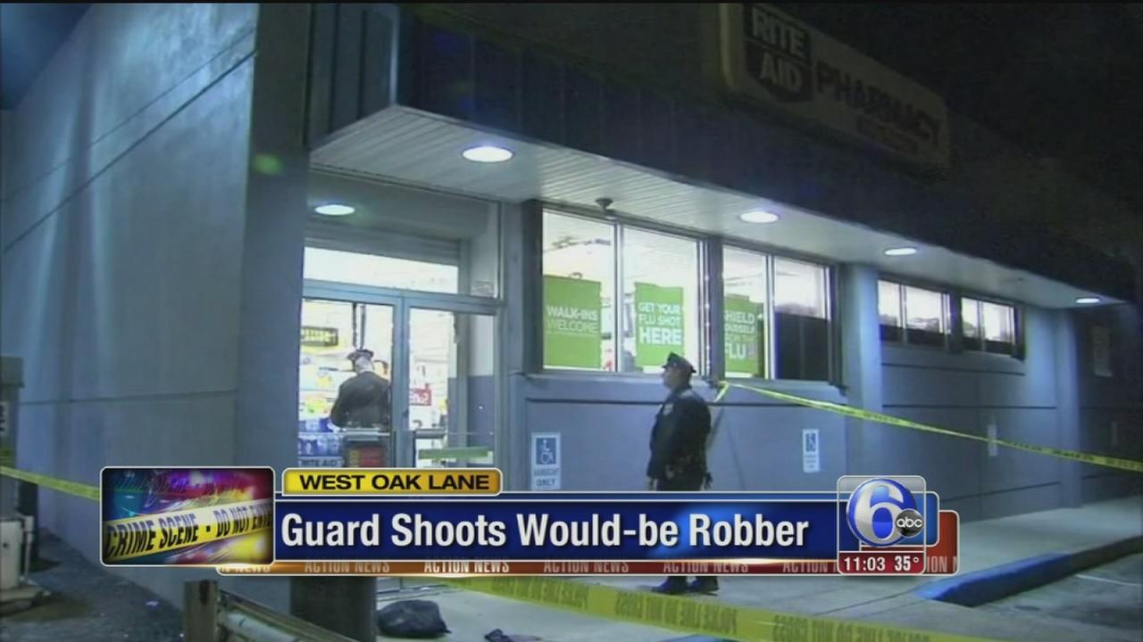 VIDEO: Police: Would-be robber shot at Rite Aid