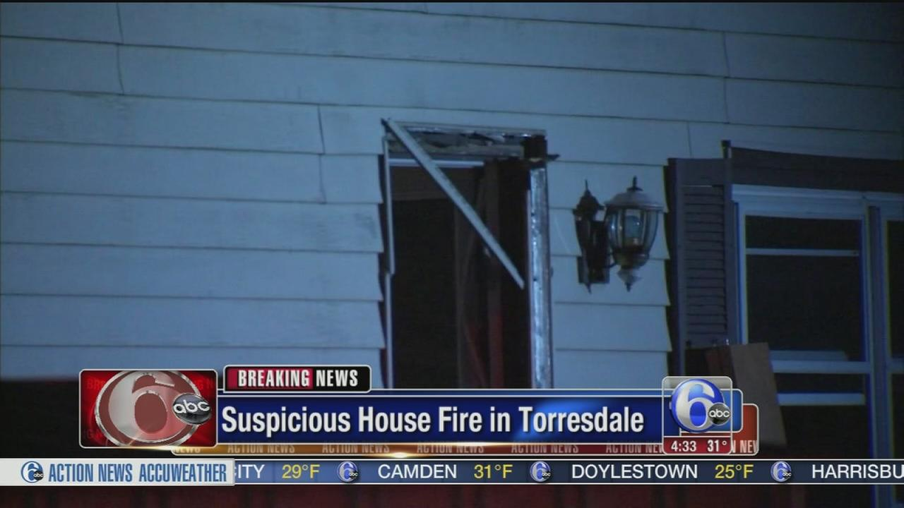VIDEO: Firefighters battle suspicious blaze in Torresdale