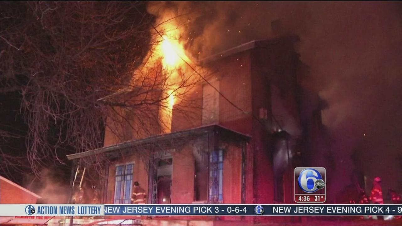 VIDEO: 2-alarm fire destroys vacant home in Wilmington