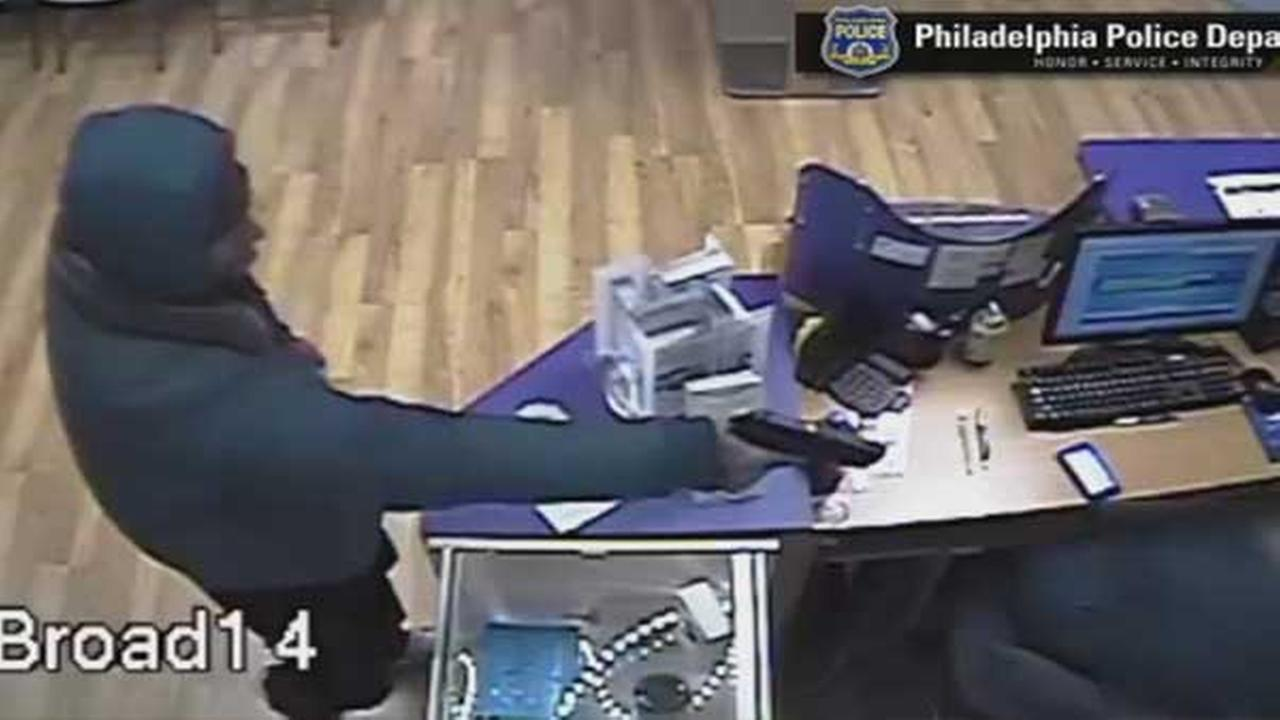 Philadelphia police are on the hunt for an armed suspect who tried to rob a cell phone store in the citys Fern Rock neighborhood.