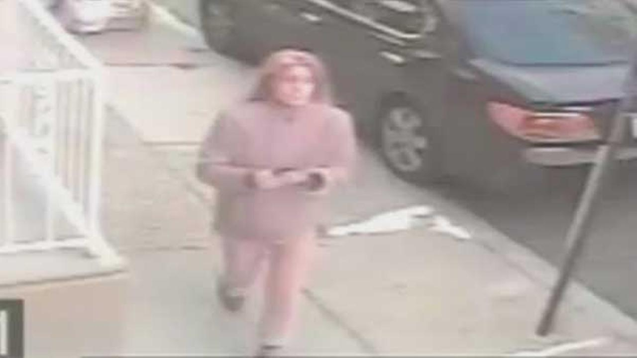 Police are looking for a woman who stole a package from the front steps of a home in South Philadelphia.