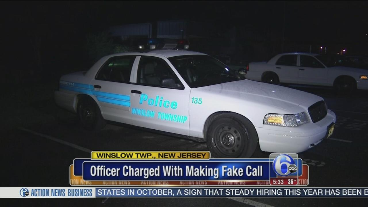 VIDEO: Police: Officer shot own patrol car in Winslow Twp.