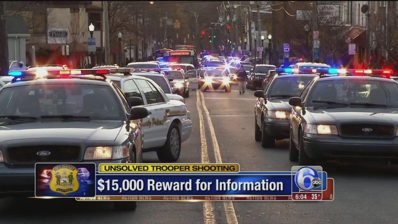 VIDEO: $15K eward in shooting of Delaware State Trooper