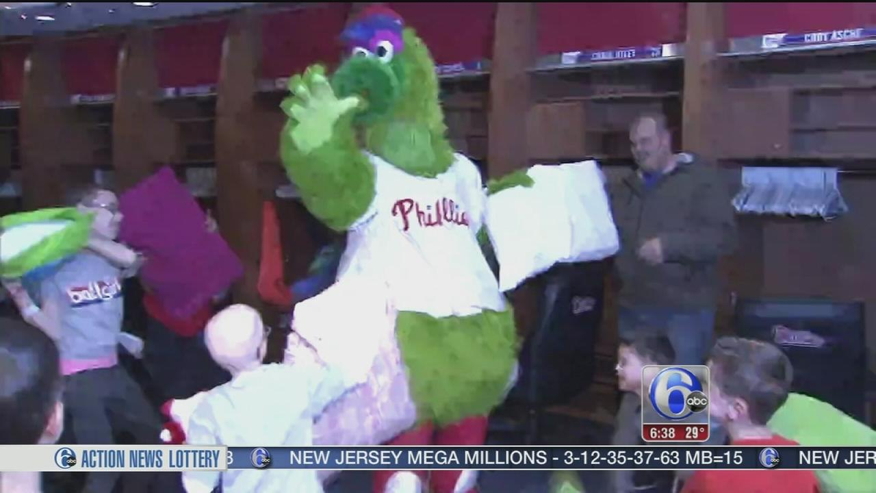 VIDEO: Young patients share in a special Phillies sleepover