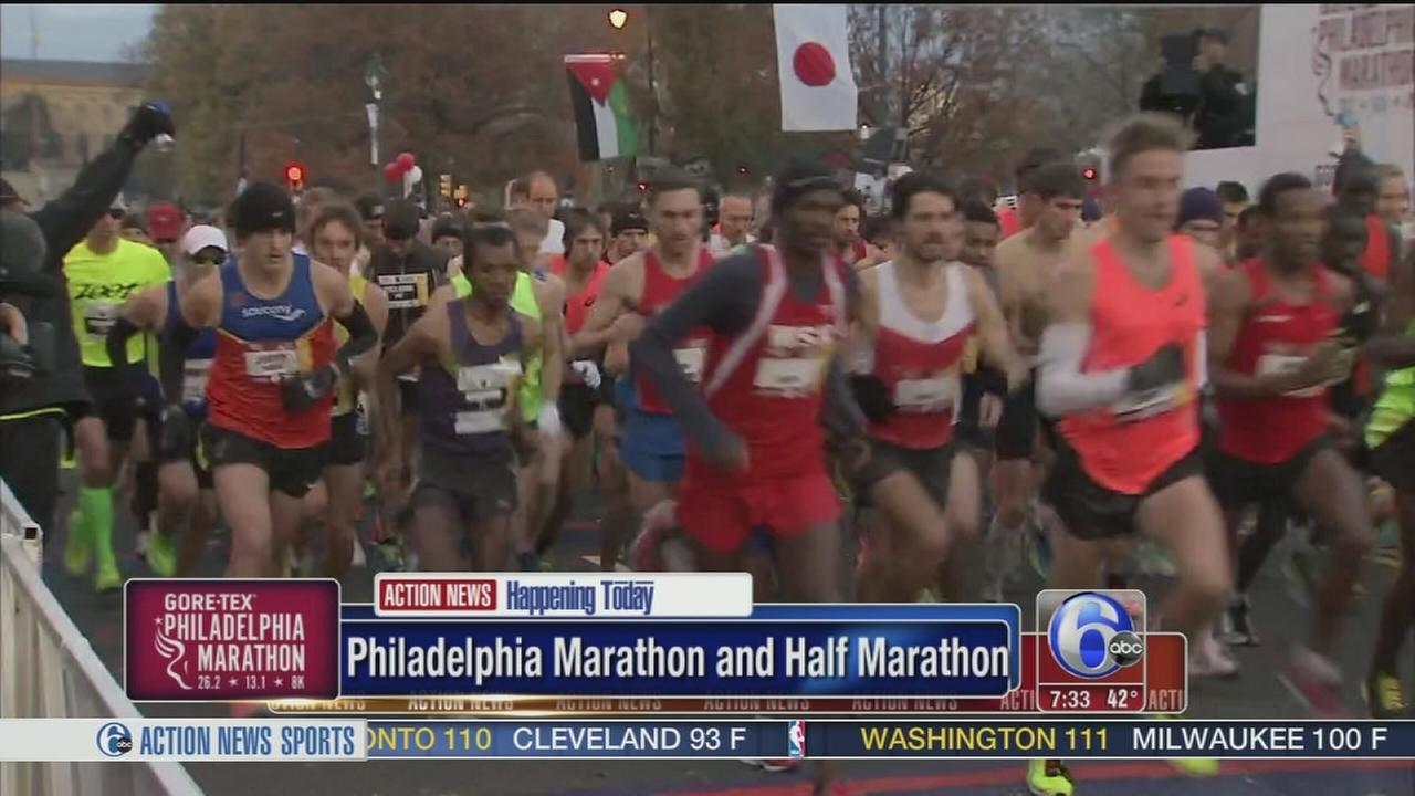VIDEO: Philly Marathon under way