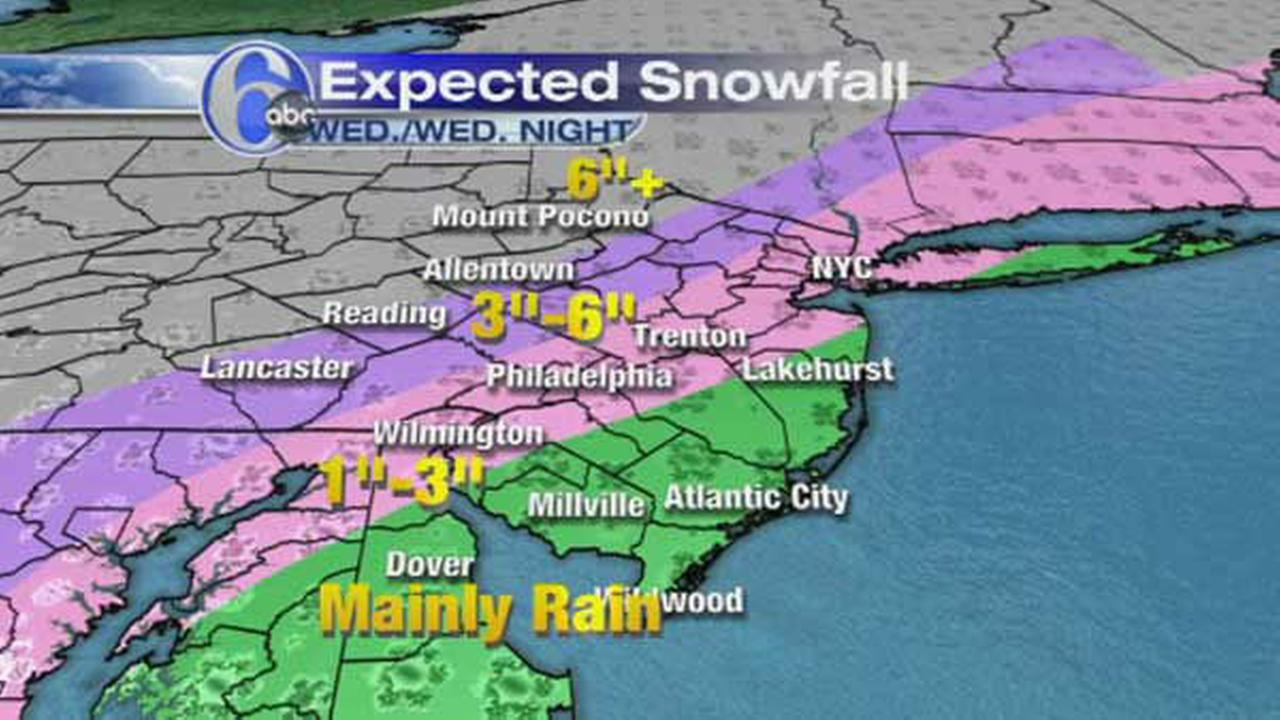 MAPS: Wednesdays expected snowfall