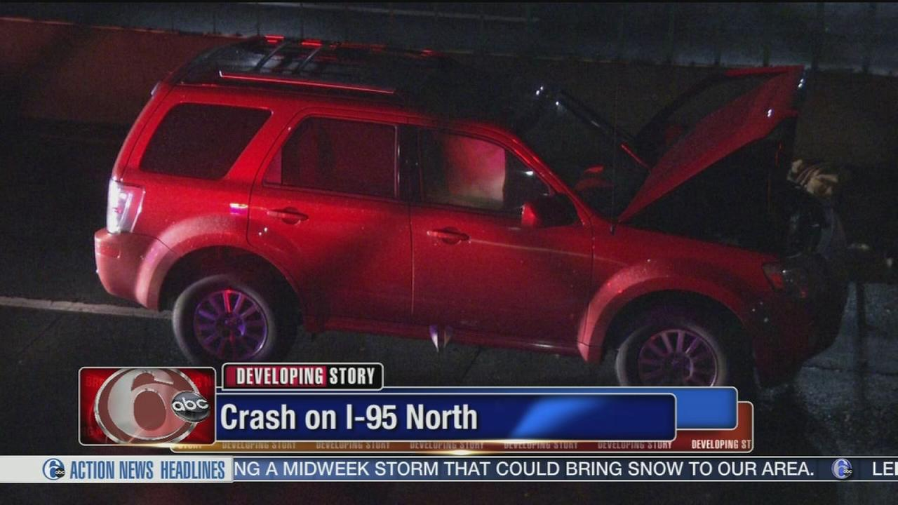 VIDEO: Serious crash shuts down I-95 North