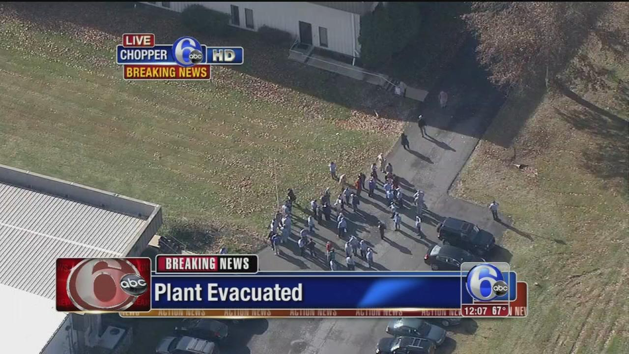 VIDEO: Plant evacuated in Plumstead Township