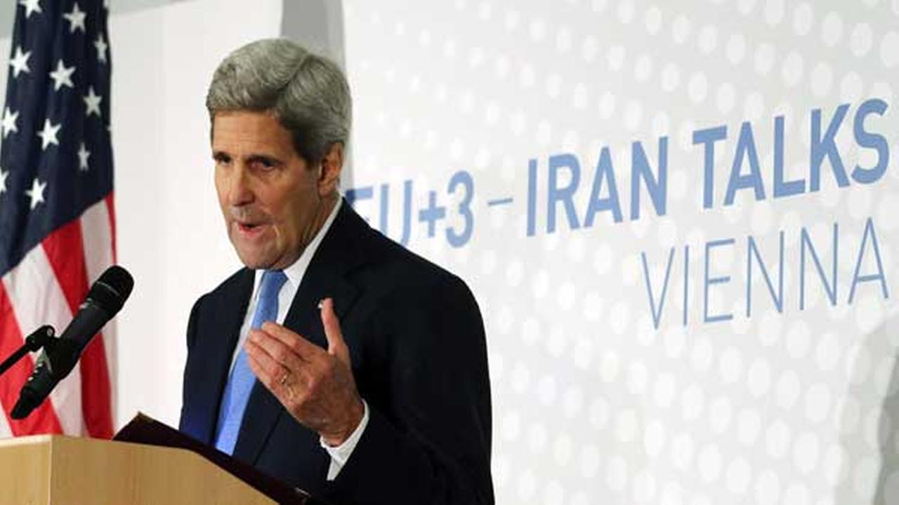 U.S. Secretary of State John Kerry address the media after the closed-door nuclear talks with Iran, in Vienna, Austria, Monday, Nov. 24, 2014.