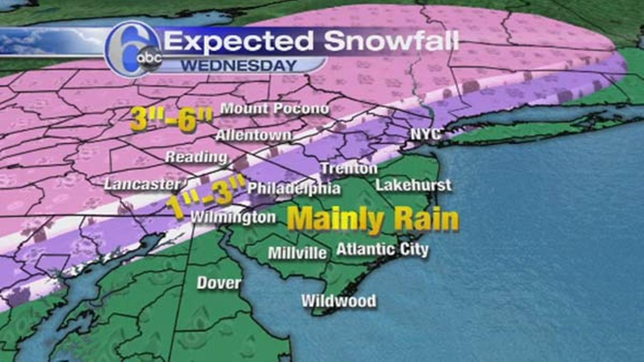 AccuWeather is calling for the possibility of accumulating snow on Wednesday.