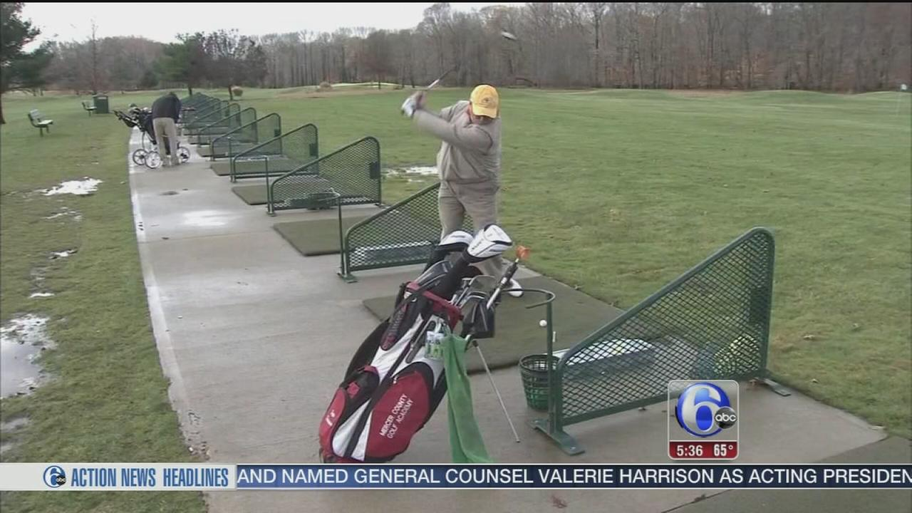 VIDEO: Golfin before snow