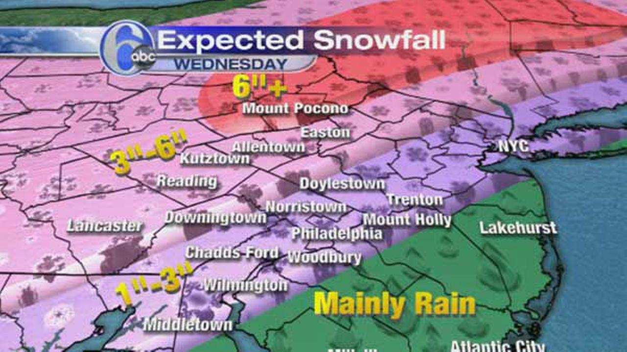 ACCUWEATHER MAPS: Wednesdays possible snowfall