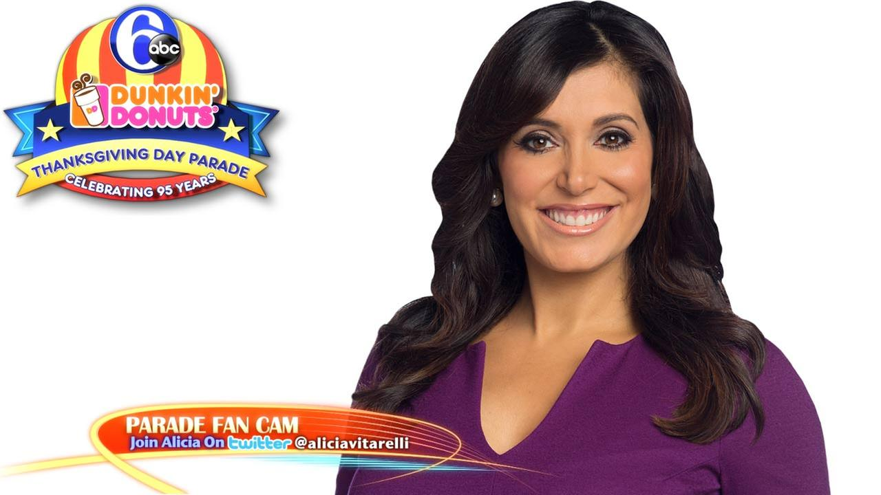 Join Alicia Vitarelli on the 6abc Dunkin Donuts Thanksgiving Day Parade Fan Cam!