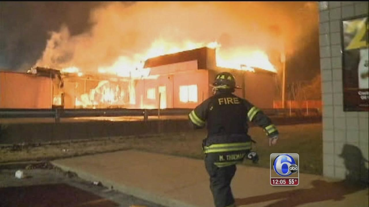 VIDEO: Ferguson businesses torched in overnight protests