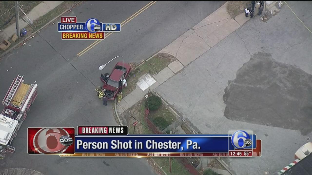 VIDEO: Person shot in Chester, Pa.