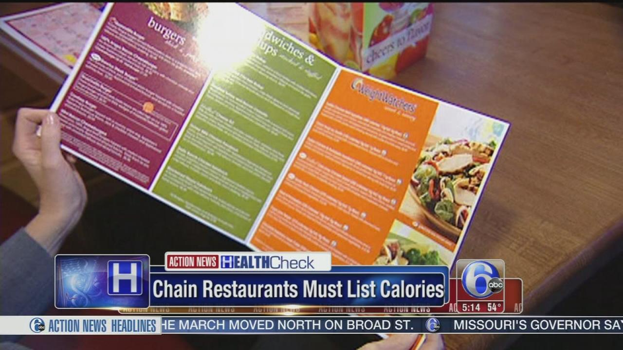 VIDEO: Chain restaurants required to put calorie counts on menus