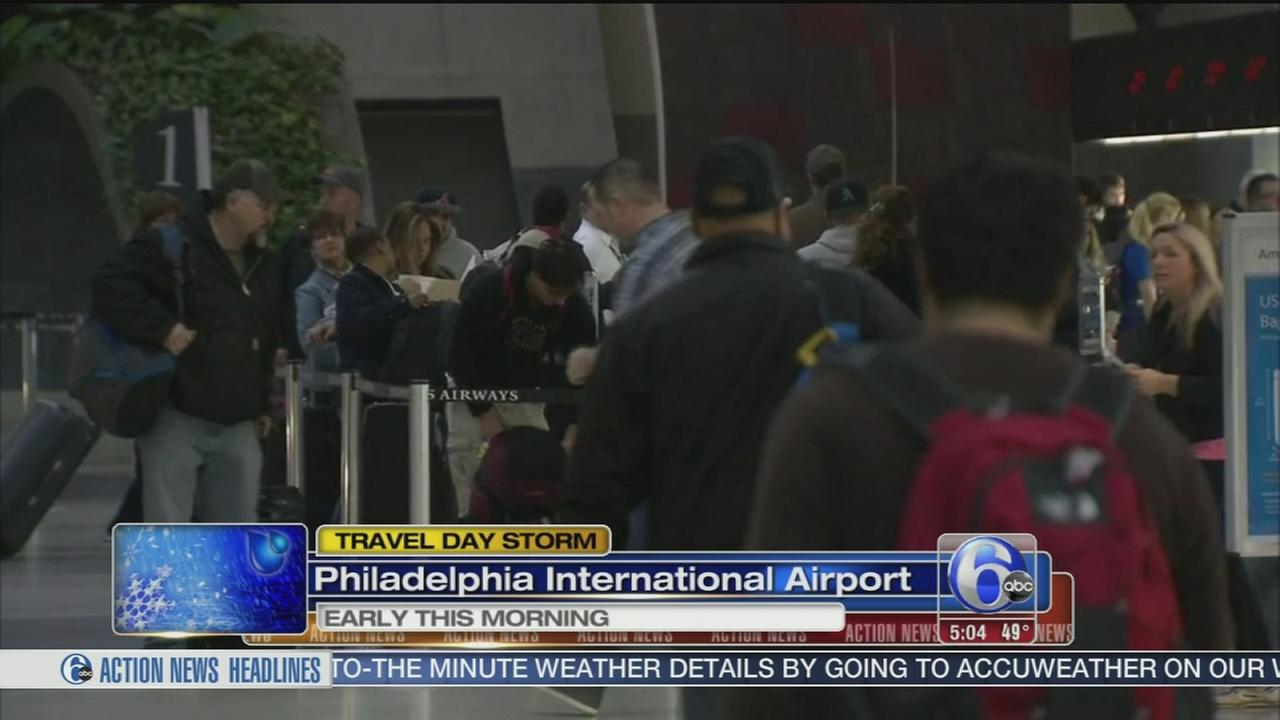 VIDEO: Katherine Scott reports on travel at  Phila. Intl Airport