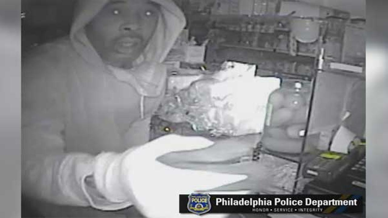 Police are looking for a suspect who burglarized a grocery store in Southwest Philadelphia.