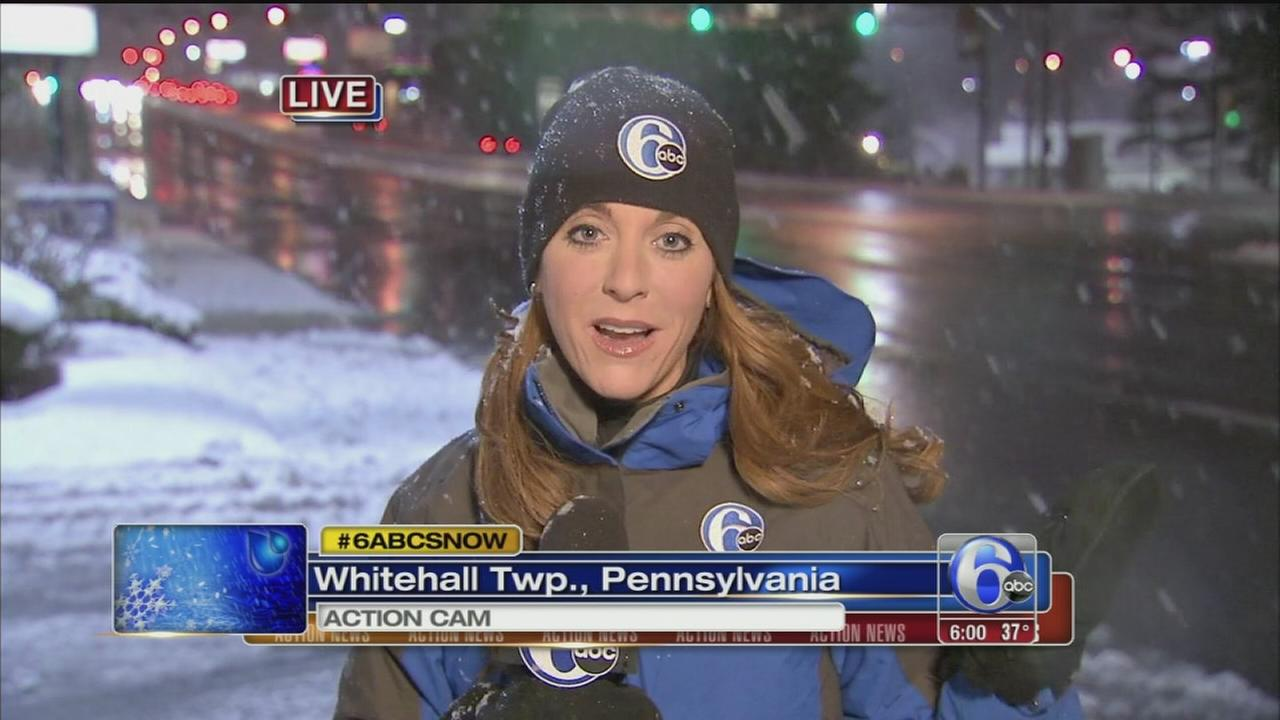 VIDEO: Annie McCormick reports on snow in Lehigh County
