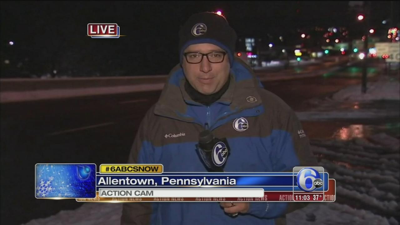 VIDEO: Chad Pradelli reports on snow in Lehigh Valley