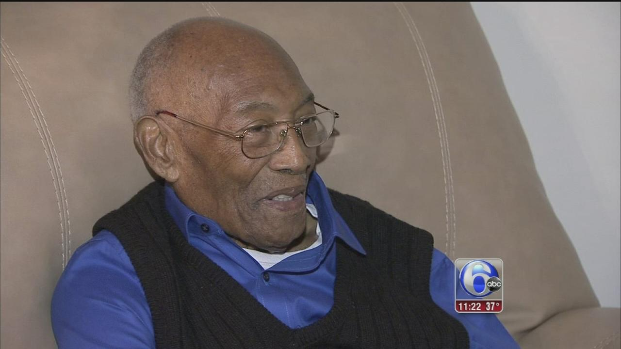VIDEO: WWII vet in West Philly celebrates 100th birthday