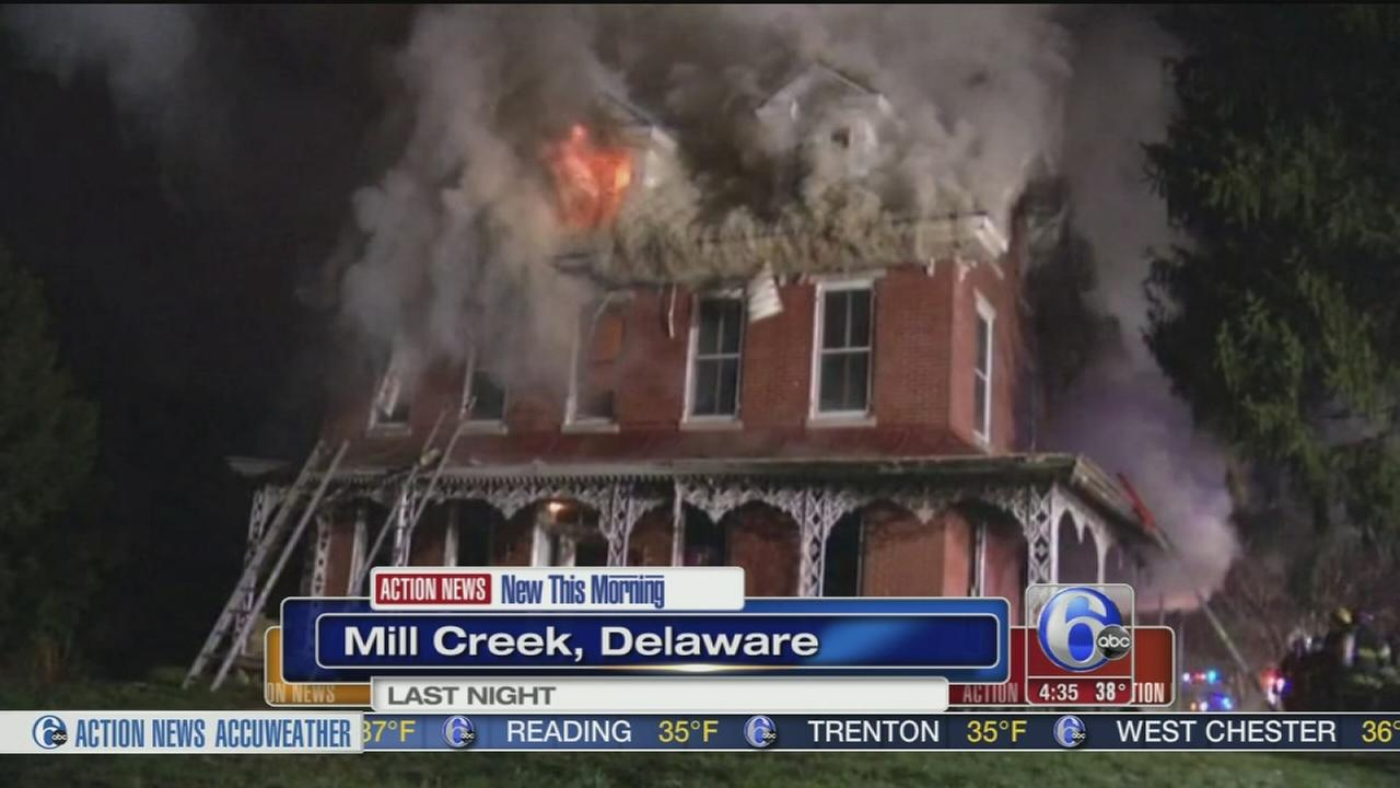 VIDEO: 2 alarm fire erupts in Mill Creek farmhouse