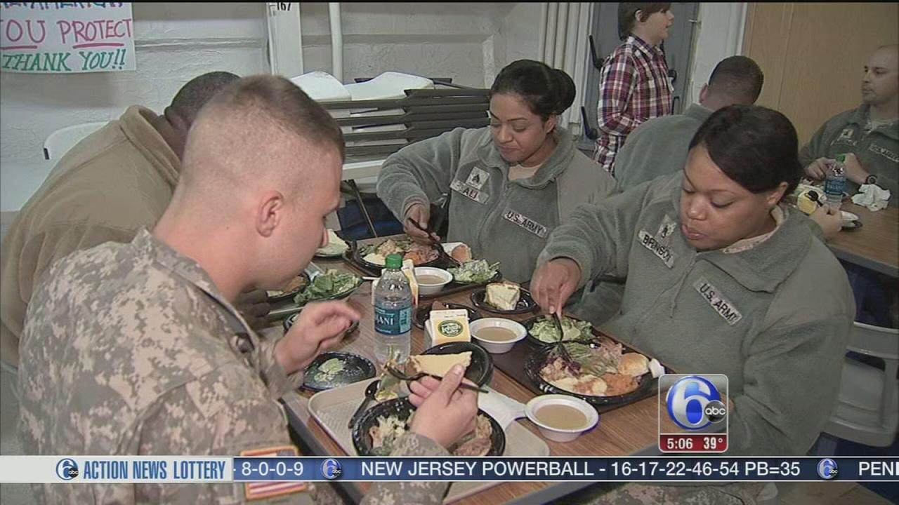 VIDEO: Thanksgiving aboard the USS NJ