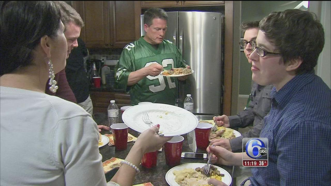 VIDEO: Thanksgiving family dinners in Phila., NJ