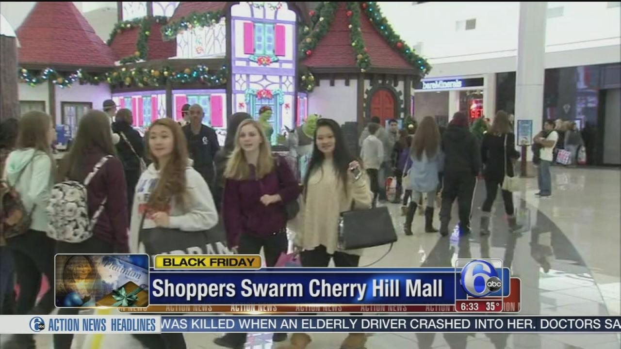 VIDEO: Black Friday shoppers swarm to Cherry Hill Mall