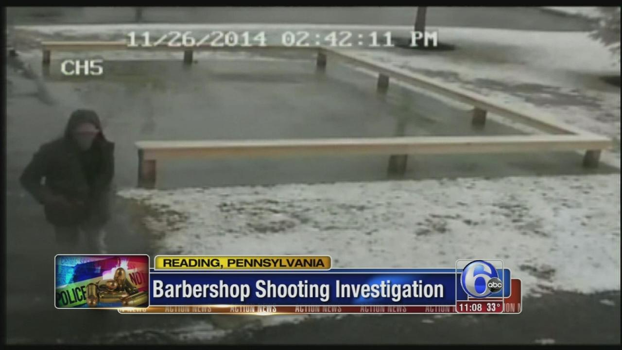 VIDEO: Surveillance video of suspect in Reading barbershop shooting