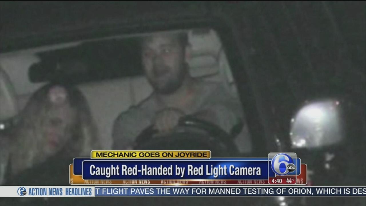 VIDEO: Red light camera catches mechanics joyride