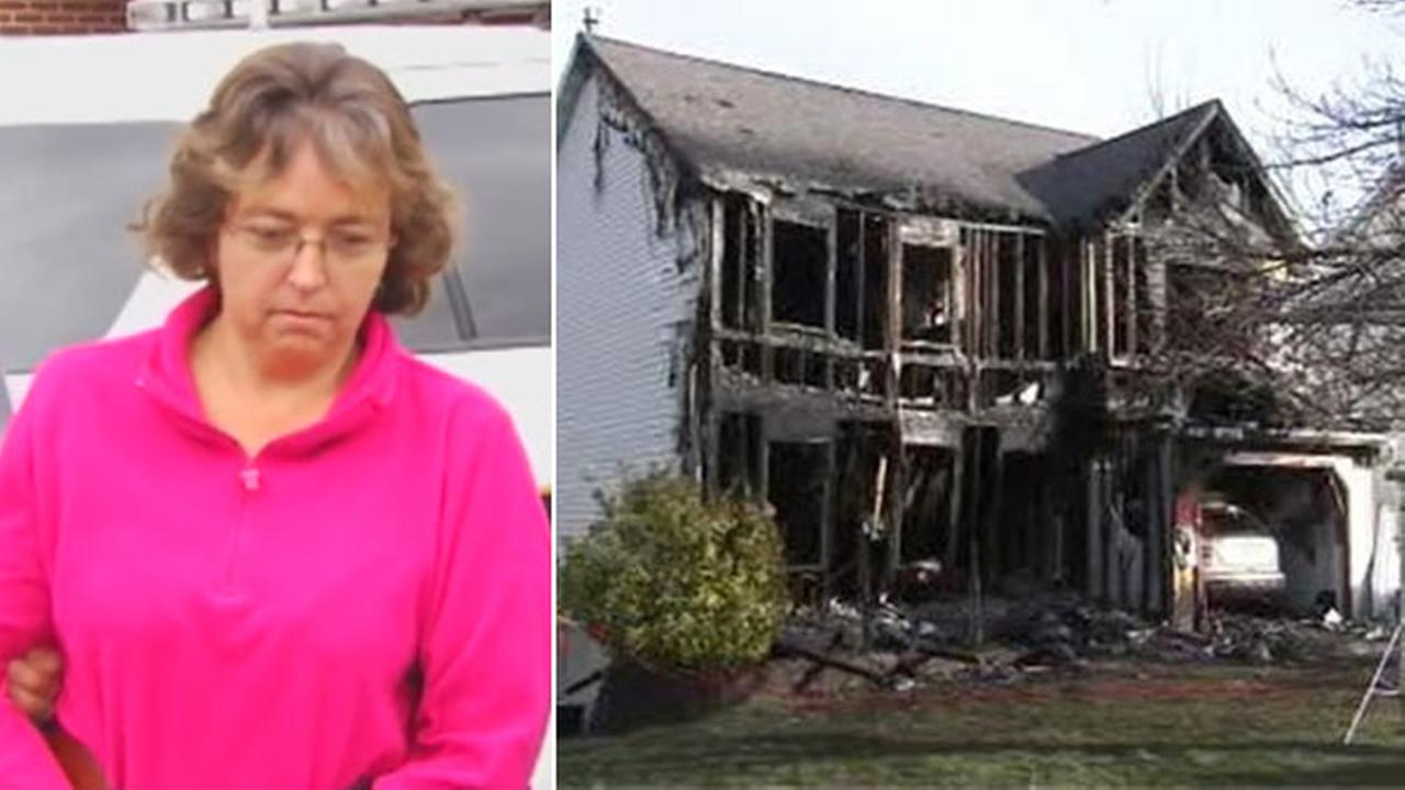 Neighbor charged in fire that destroyed officers home