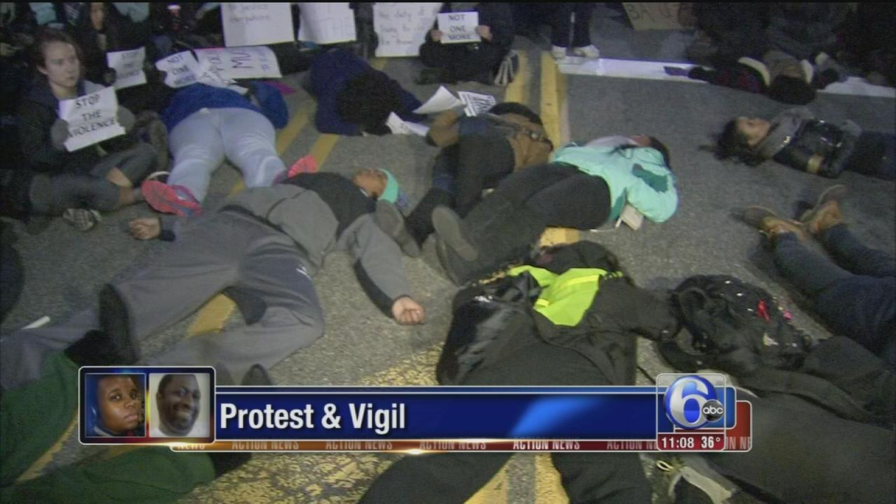 VIDEO: Protest and vigil