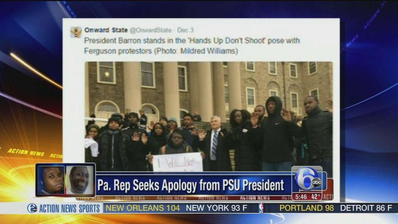 VIDEO: Pa. Rep. demands apology from PSU president