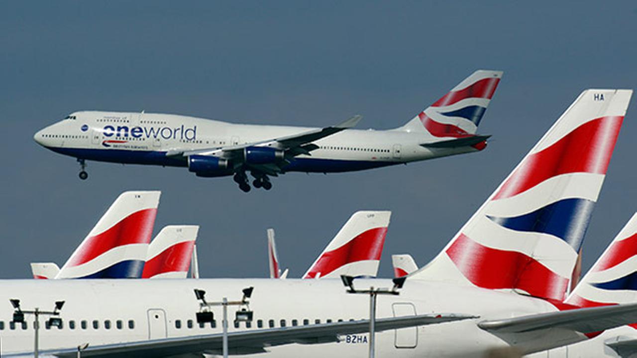 British Airways jets at Londons Heathrow Airport