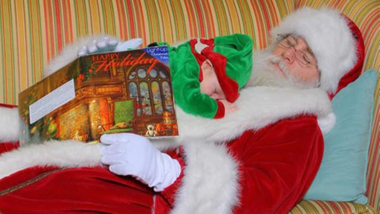 Baby naps with Santa at King of Prussia Mall