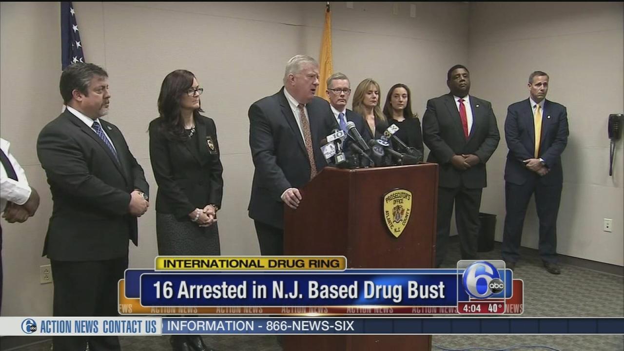 VIDEO: 16 arrested in N.J. based international drug ring