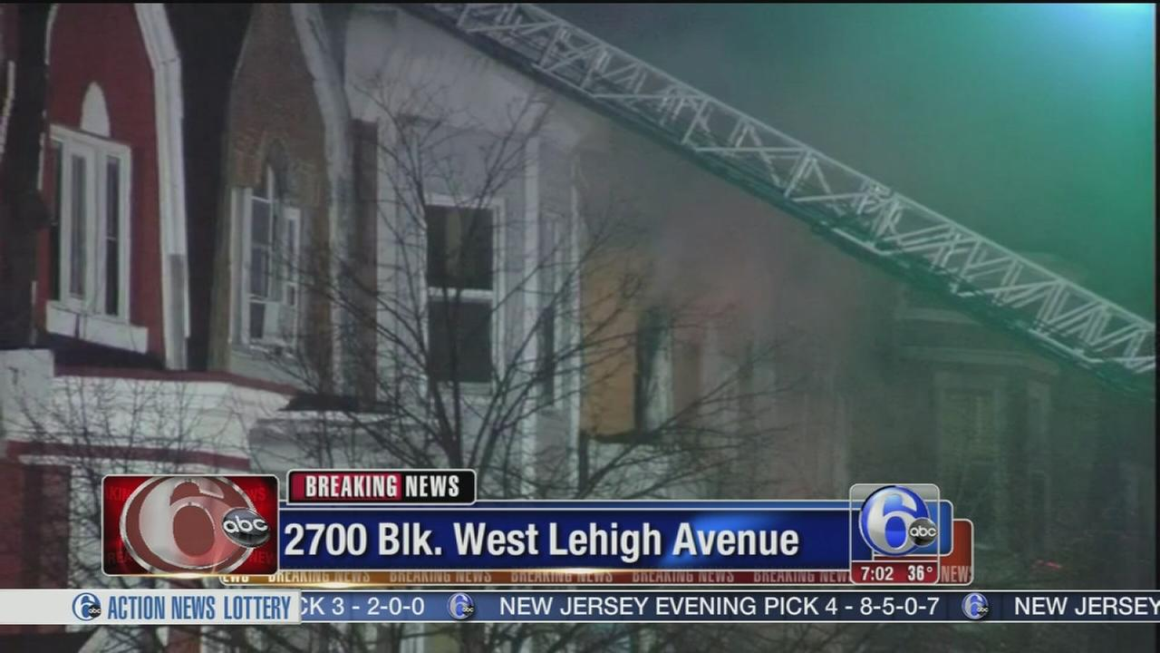 VIDEO: Firefighter injured in Strawberry Mansion house blaze