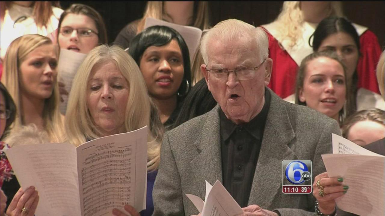VIDEO: 93-year-old soloist sings at Coatesville HS