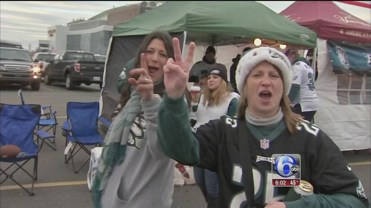 VIDEO: Eagles fans pumped for Cowboys re-match