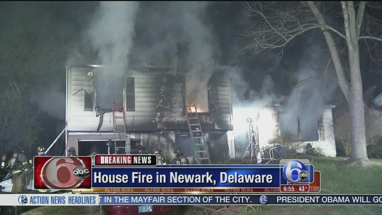 VIDEO: House fire in Newark, Del.