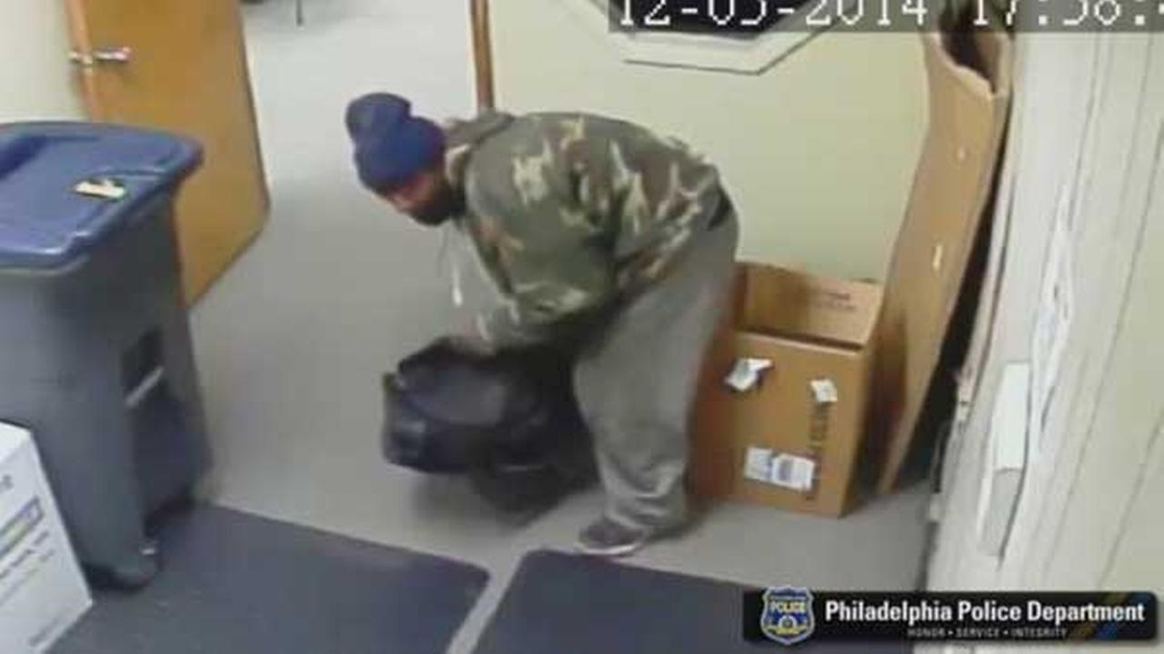 Philadelphia police are looking for a suspect wanted for attempted burglary in North Philadelphia.