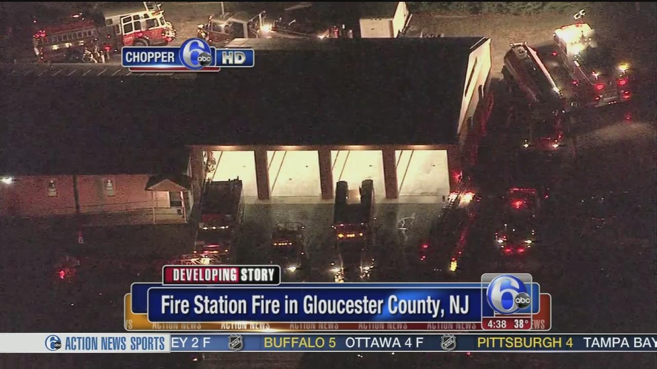 VIDEO: Crews battle fire station blaze in Gloucester Co.