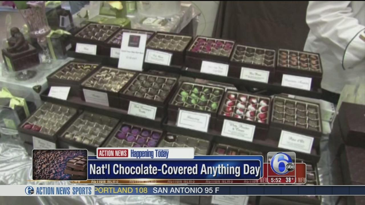 VIDEO: Natl chocolate-covered anything day