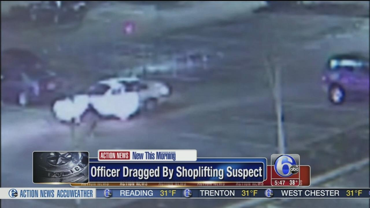 VIDEO: Officer dragged by shoplifting suspect