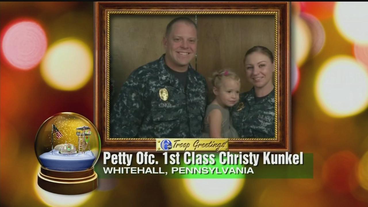 VIDEO: Troop greeting - PO 1st Cl. Christy Kunkel